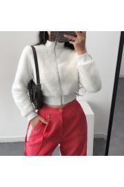 White retro plush top high collar waist - Il mio sguardo - $27.99  ~ 24.04€