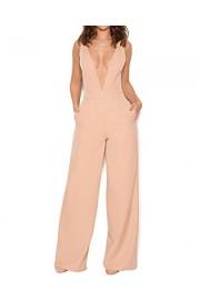 Whoinshop Women's Deep V Wide Leg Jumpsuit Club Romper Pants - My look - $42.00