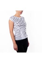 Women's Black White Geometric Graphic Pr - Catwalk - $46.00