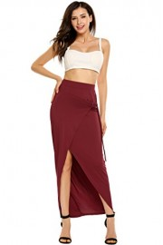 Women's Boho Front Split A Line Long Skirt Beach Lightweight Ankle Length Maxi Skirts - Il mio sguardo - $16.98  ~ 14.58€