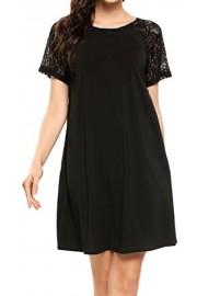 Women's Casual Plain Short Sleeve Simple T Shirt Loose Dress - Il mio sguardo - $9.99  ~ 7.54€