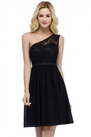Women's Chiffon Lace Floral Sleeveless Bridesmaid Evening Prom Dress - Mi look - $29.99  ~ 25.76€