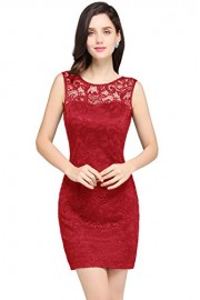 Women's Elegant Illusion Lace Bodycon Formal Evening Prom Dress - Moj look - $27.59  ~ 23.70€