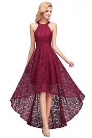 Women's Halter Sleeveless Hi Lo Lace Evening Party Dresses - Mein aussehen - $35.99  ~ 30.91€
