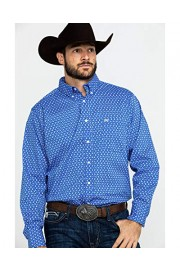 Wrangler Men's 20X Blue Paisley Print Long Sleeve Western Shirt - Mpc126m - My look - $60.94