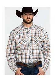 Wrangler Men's 20X Orange Plaid Long Sleeve Western Shirt - Mjc225m - My look - $57.94