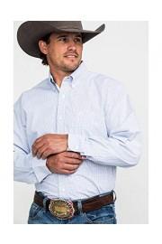 Wrangler Men's George Strait by White Check Plaid Long Sleeve Western Shirt Big - Mgsb693-T - My look - $62.94