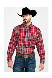 Wrangler Men's Med Plaid Wrinkle Resistant Long Sleeve Western Shirt - Mwr353r - My look - $40.94