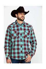 Wrangler Men's Rock 47 by Med Plaid Long Sleeve Western Shirt - Mrc380m - My look - $67.94