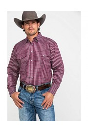 Wrangler Men's Wrinkle Resist Plaid Long Sleeve Western Shirt - Mwr358r - My look - $40.94