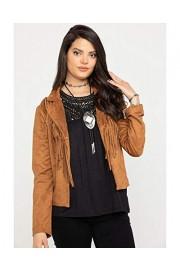 Wrangler Women's Camel Faux Suede Fringe Jacket - Lw8012t - My look - $77.54