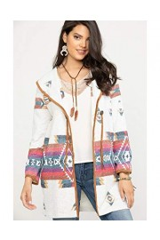 Wrangler Women's Oatmeal Aztec Cardigan - Lwk880m - My look - $61.54