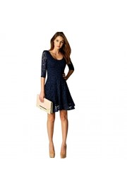 Yang-Yi Clearance, Hot Fashion Women Lace 3/4 Sleeve Dress Party Evening Short Mini Dress - My look - $8.05