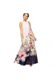 Yang-Yi Clearance, Spring Summer Women Casual Fit Flare Floral Chiffon Sleeveless Dress - My look - $10.98