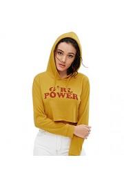 ZAFUL Long Sleeve Hoodie Sport Crop Top Sweatshirt Jumper Pullover Tops Workout Clothes Sweatshirts - My look - $20.49