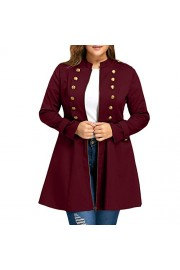 ZAFUL Women's Plus Size Coat Double Breasted Long Sleeve Jackets Trench Coats - My look - $22.99