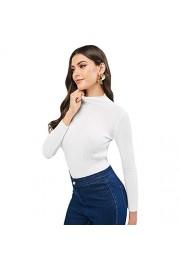 ZAFUL Women's Pullover Plain Slim Sweater Long Sleeve Mock Neck Ribbed Knit Jumper - Myファッションスナップ - $19.99  ~ ¥2,250