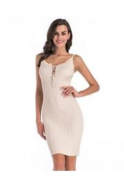 ZAFUL Women's Sexy Bodycon Ruched Midi Dress Spaghetti Straps Sleeveless Cut Out Bandage Tank Dresses - My look - $10.99