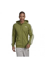 adidas Essentials 3-Stripes Fleece Hoodie - Men's Multi-Sport XLT Tech Olive - Mój wygląd - $55.95  ~ 48.05€