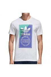 adidas Originals Front Graphic Men's Shortsleeve T-Shirt White/Blue cd6833 - Mój wygląd - $37.95  ~ 32.59€
