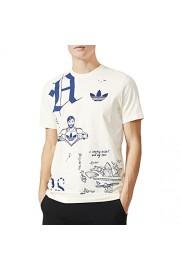 adidas Originals Mens Sketchbook Crew Neck T-Shirt - White - Mój wygląd - $26.99  ~ 23.18€