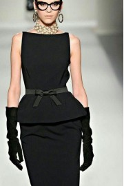 black dress - ファッションショー -