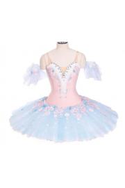 blue and pink ballet floral dress - Mój wygląd -