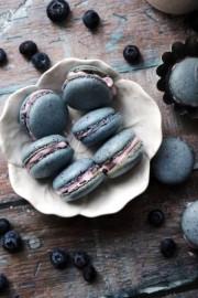 blueberry macarons with blueberry mascar - Mis fotografías -