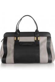 colorblocked leather weekender bag - Moj look -