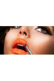 girl with orange lipstick - My look -