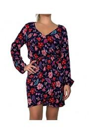 &harmony Long Sleeve Wrap Dress with Curved Hem Mini Short Dress Length Above The Knee - Mi look - $12.99  ~ 11.16€