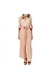 &harmony Women's Cold Shoulder Jumpsuit - Romper with Wide Shoulder Straps - Mi look - $26.99  ~ 23.18€