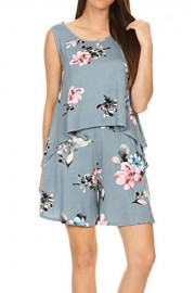 iconic luxe Women's Floral Top and Short Two Piece Set - Il mio sguardo - $52.00  ~ 44.66€