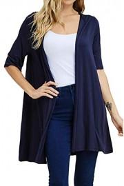 iconic luxe Women's Hooded Half Sleeve Cardigan - Il mio sguardo - $47.00  ~ 40.37€