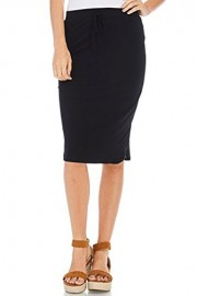 iconic luxe Women's Jersey Knit Pencil Skirt with Tie Detail - Il mio sguardo - $40.00  ~ 34.36€