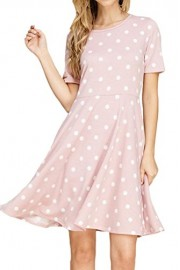 iconic luxe Women's Polka Dot Fit and Flare Dress with Pocket - Il mio sguardo - $55.00  ~ 47.24€