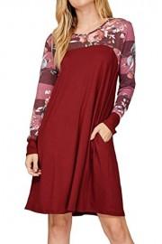 iconic luxe Women's Solid Print Combination Dress - Il mio sguardo - $48.00  ~ 41.23€