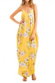 iconic luxe Women's Spaghetti Strap Floral Maxi Dress - Il mio sguardo - $48.00  ~ 41.23€