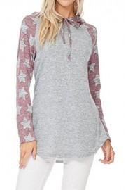 iconic luxe Women's Star Print Sweater with Hoodie - Il mio sguardo - $50.00  ~ 42.94€