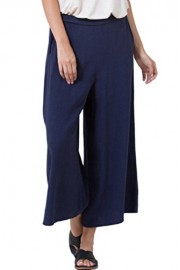 iconic luxe Women's Straight Leg Culottes Pants with Pockets - Il mio sguardo - $60.00  ~ 51.53€
