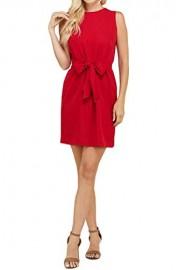 iconic luxe Women's Waist Tie Sleeveless Dress - Il mio sguardo - $52.00  ~ 44.66€