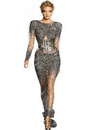 long dress by bluemoon - Modna pista -