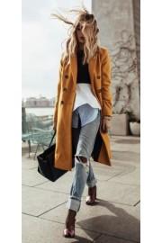Mustard Coat - Mi look -