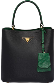 prada panier crocodile and leather bag - My look -