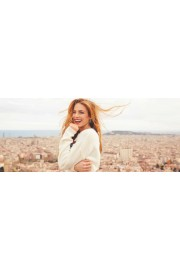 redhead girl city background - My look -