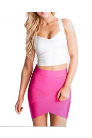 whoinshop Women's Rayon Bodycon Pencil Party Bandage Mini Skirt - Moj look - $27.00  ~ 23.19€
