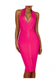 whoinshop Women 's Sexy Halter Deep V Neck Club Party Bandage Dress - My look - $9.99  ~ £7.59