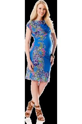 Donna Morgan Dresses -  A Pea in the Pod: Donna Morgan Short Sleeve Paisley Print Maternity Dress Paisley Print
