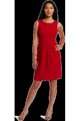 AK Anne Klein Dresses -  AK Anne Klein Women's Bi-Stretch Seamed A-line Dress Poppy