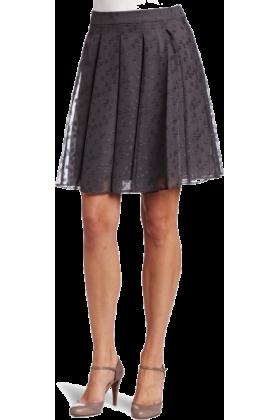 AK Anne Klein Skirts -  AK Anne Klein Women's Clipped Jacquard Skirt Ash/Silver